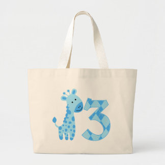 Blue Giraffe 3rd Birthday Bags