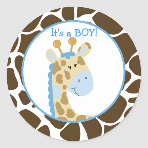 Blue Giraffe Customized Sticker
