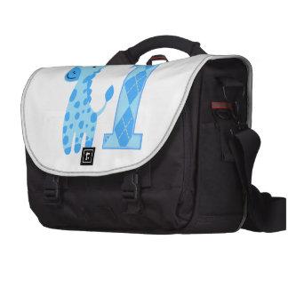 Blue Giraffe First Birthday Laptop Commuter Bag