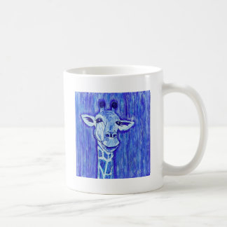 Blue Giraffe Portrait wild animal art African Coffee Mug