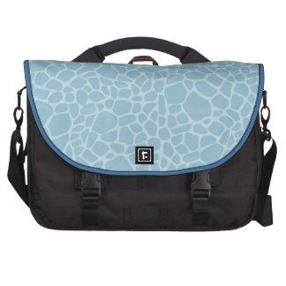 Blue Giraffe Print Bag For Laptop