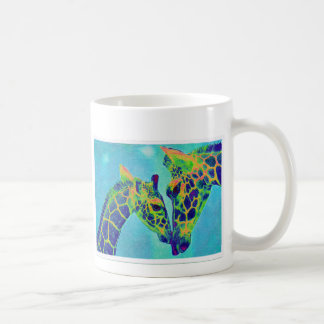 blue giraffes coffee mug