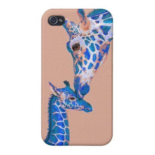 blue giraffes iphone 4 case
