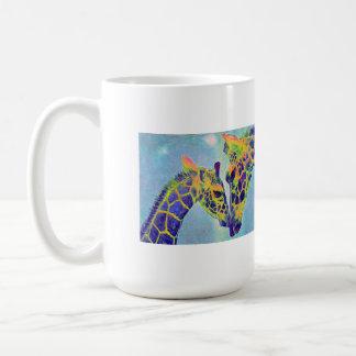 blue giraffes mug
