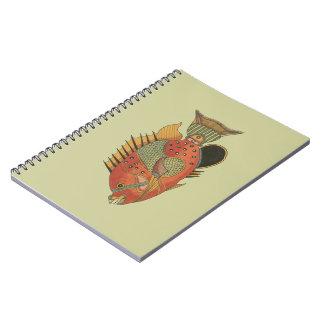 Blue Girdled Angelfish Spiral Note Book