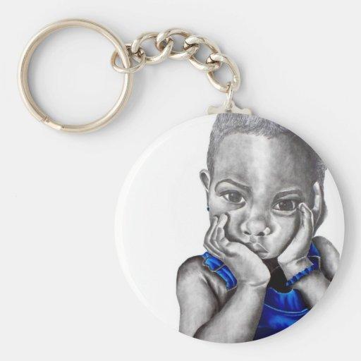 Blue Girl 2 Keychain