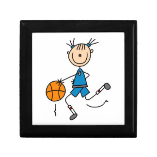 Blue Girl Basketball Player T shirts and Gifts Gift Box