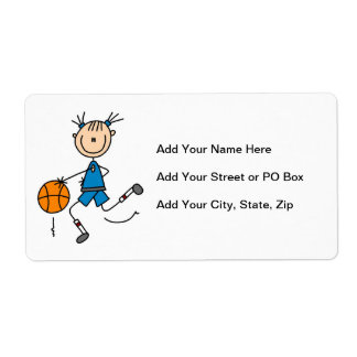 Blue Girl Basketball Player T shirts and Gifts Shipping Label