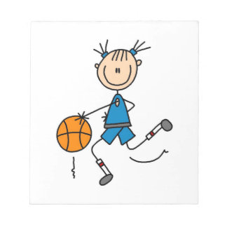 Blue Girl Basketball Player T shirts and Gifts Note Pads