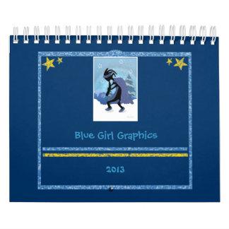 Blue Girl Graphics Calender 2013 Calendar