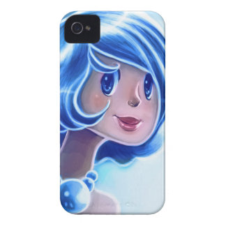 Blue Girl Illustration iPhone 4 Cover