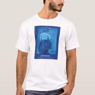 """Blue Girl Sitting"" by Zermeno T-Shirt"