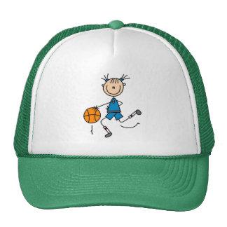 Blue Girl Stick Figure Basketball Hat