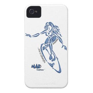 Blue Girl Surfer Phonecase iPhone 4 Case