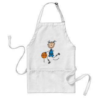 Blue Girls Basketball Tshirts and Gifts Adult Apron