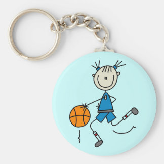 Blue Girls Basketball Tshirts and Gifts Keychain
