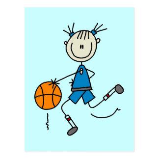 Blue Girls Basketball Tshirts and Gifts Postcard