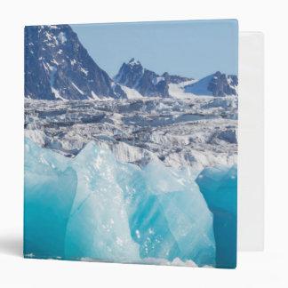 Blue glaceir ice, Norway 3 Ring Binder
