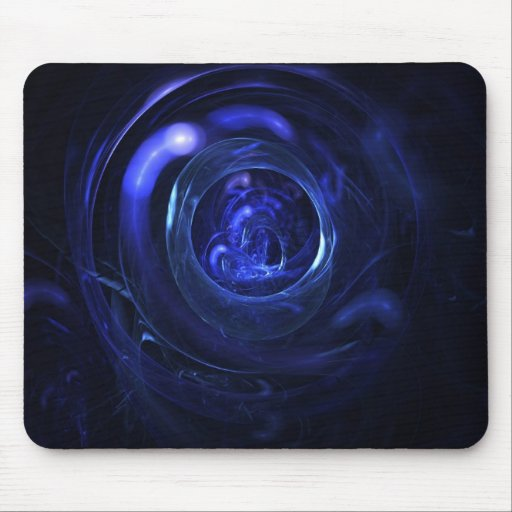 Blue Glass - Abstract Fractal Mouse Pad