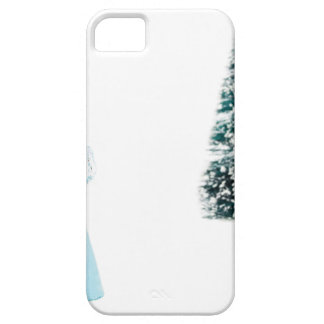 Blue glass angel praying near christmas tree iPhone SE/5/5s case