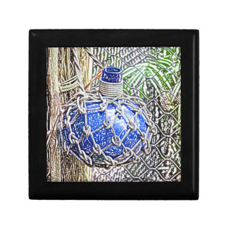 blue glass bottle colored pencil look keepsake boxes