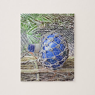 blue glass bottle colored pencil look jigsaw puzzle