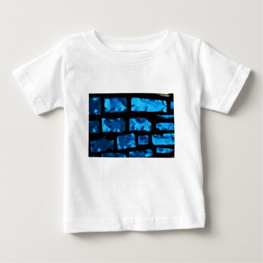 Blue glass chunks with black grout between them baby T-Shirt