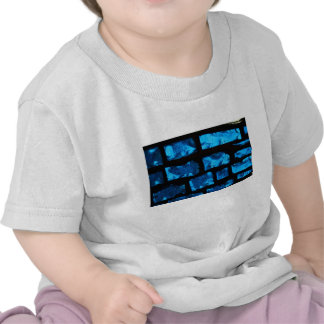 Blue glass chunks with black grout between them tee shirt