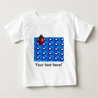 blue glass dots ladybug heart spots baby shirt