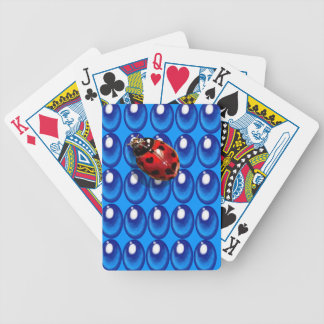 blue glass dots ladybug heart spots love cards bicycle playing cards