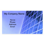 Blue Glass Facade Architectural Design Business Card