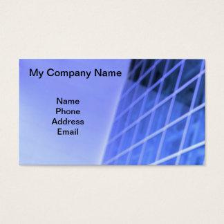 Blue Glass Facade Architectural Design Business Card
