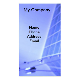 Blue Glass Facade Architectural Design Double-Sided Standard Business Cards (Pack Of 100)