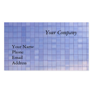 Blue Glass Facade of a Modern Office Complex Double-Sided Standard Business Cards (Pack Of 100)