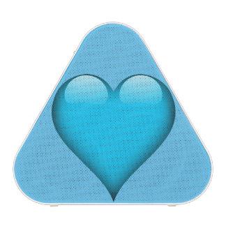 Blue Glass Heart Customizable Bluetooth Speaker