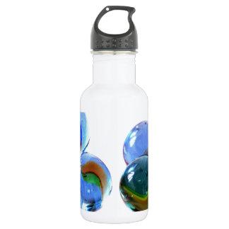 Blue Glass Images 18oz Water Bottle