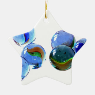 Blue Glass Images Ceramic Ornament