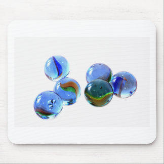 Blue Glass Images Mouse Pad