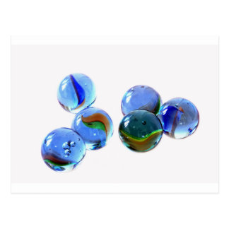 Blue Glass Images Postcard