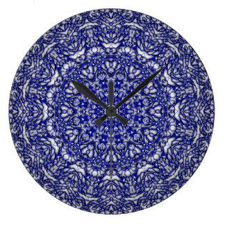 Blue Glass Lace Clocks