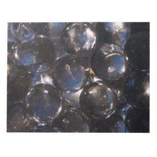 Blue Glass Pebbles - abstract photograph Notepad