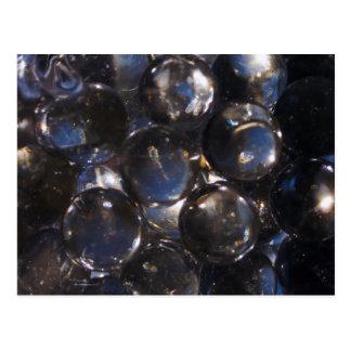 Blue Glass Pebbles - abstract photograph Postcard
