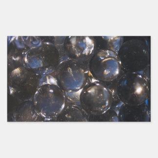 Blue Glass Pebbles - abstract photograph Rectangular Sticker