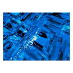 blue glass posters