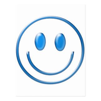 Blue Glass Smiley Face Postcard