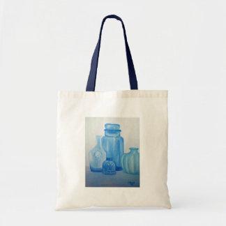 Blue Glass Still Life Bag
