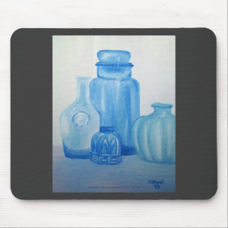 Blue Glass Still Life Mousepad