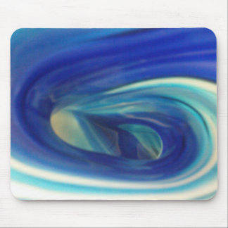 Blue Glass Swirl Mouse Pad