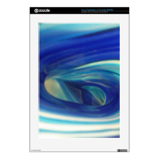 Blue Glass Swirl PS3 Console Decal