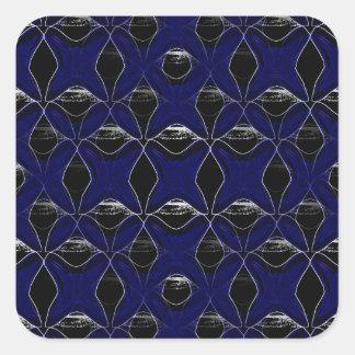 BLUE GLASS X SQUARE STICKER